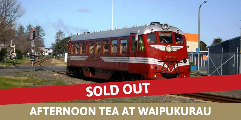 Railcar Ride & Afternoon Tea at Waipukurau