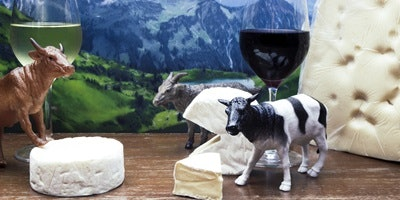 Wine and cheese of the Alps