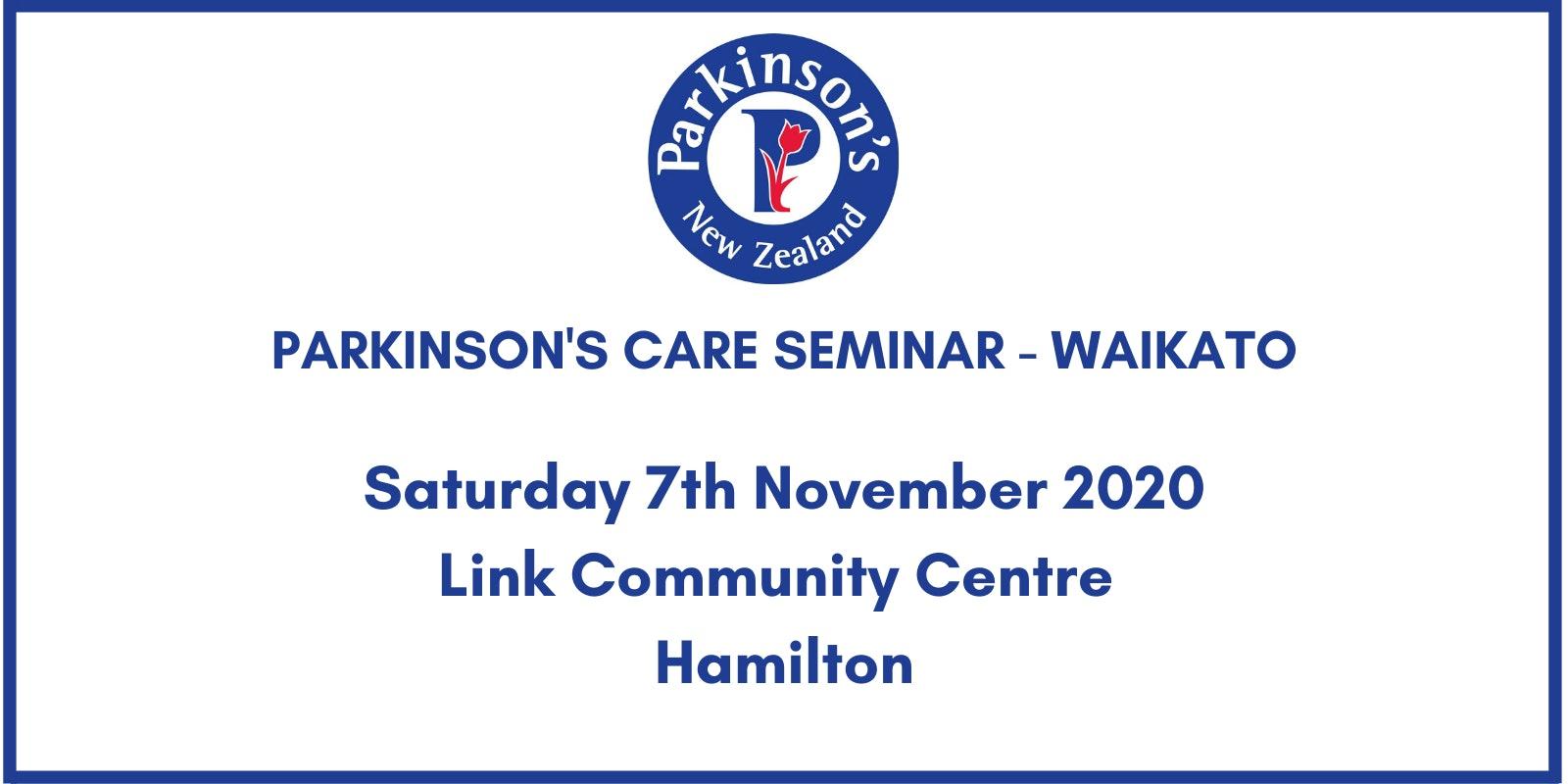 Parkinson's Seminar - Waikato