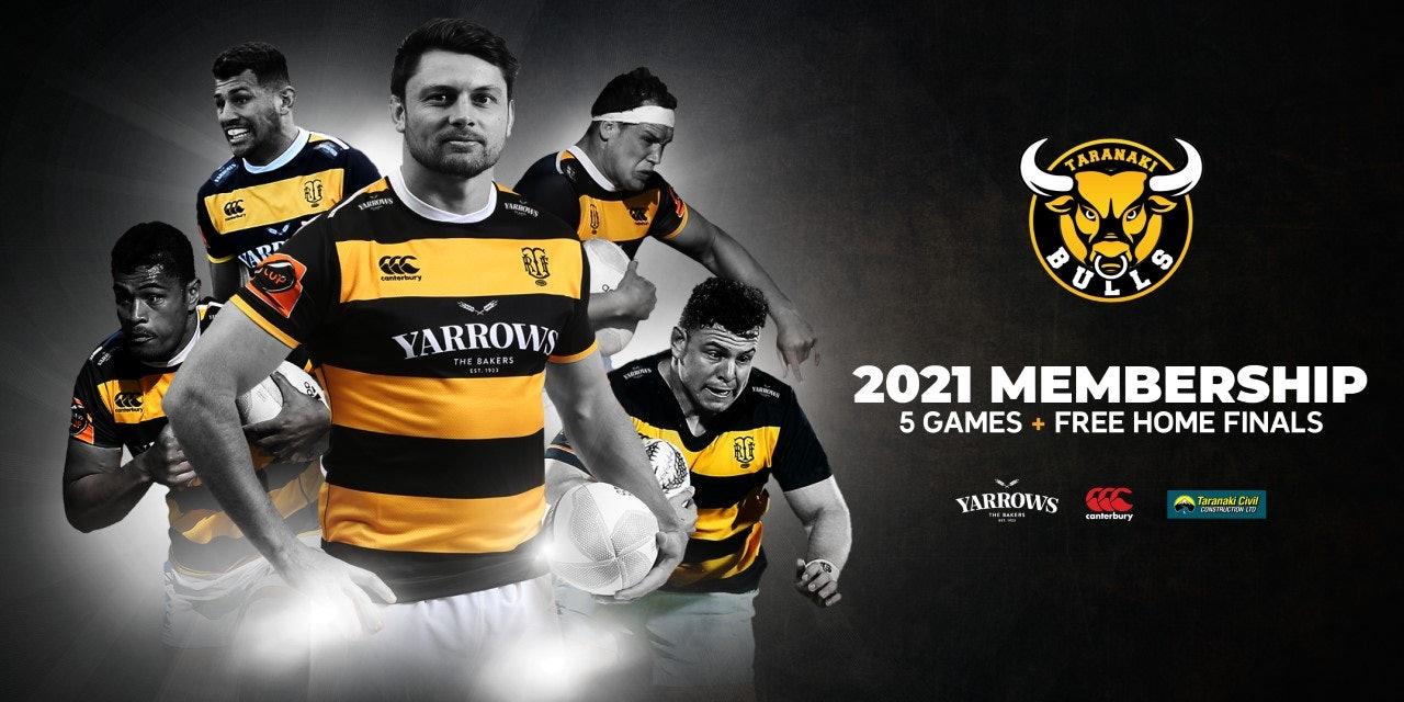 2021 Yarrows Taranaki Bulls Membership