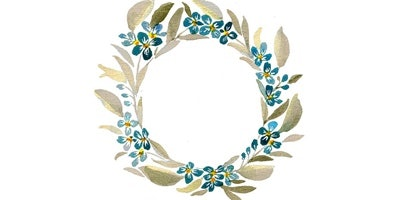 Paint a Watercolour Wreath: for absolute beginners