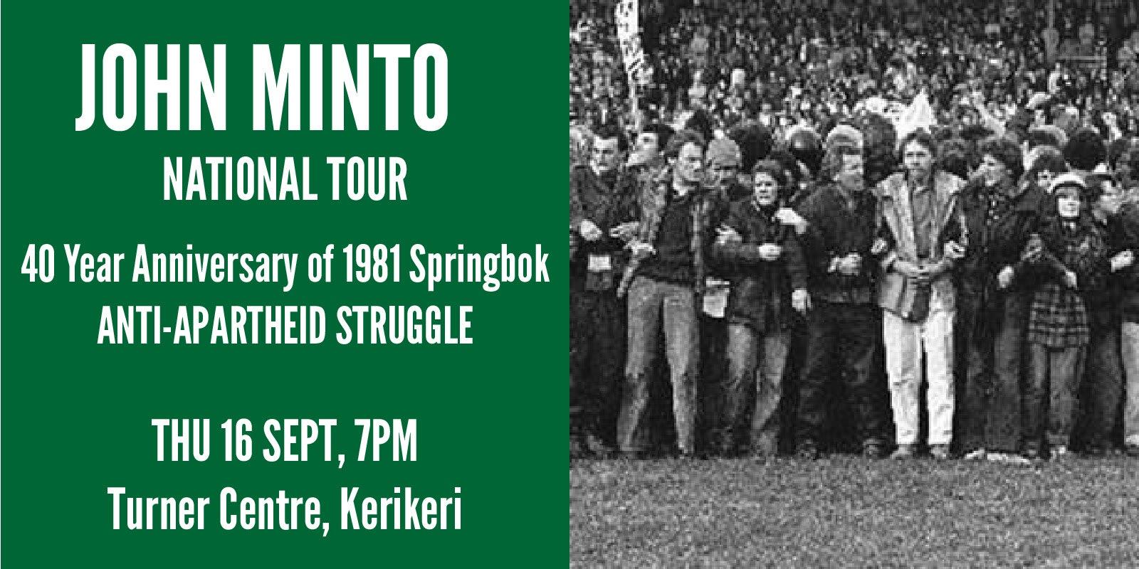 John Minto National Tour