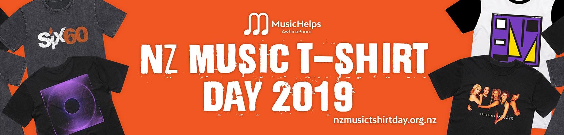 NZ Music T-Shirt Day for MusicHelps